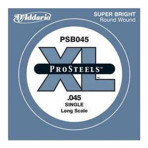 D'ADDARIO PSB045 - Singola per Basso Elettrico Pro Steels (045)