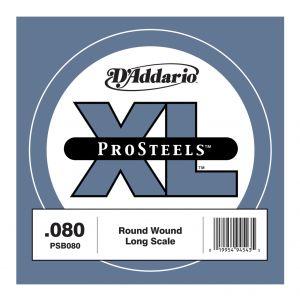 D'ADDARIO PSB080 - Singola per Basso Elettrico Pro Steels (080)