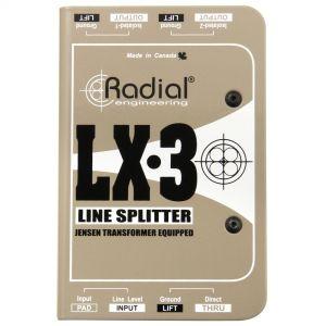 Radial LX3 Splitter Line-Level Passivo