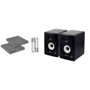 RCF Ayra 6 Kit - Coppia Monitor con Cavi e Pannelli Fonoassorbenti