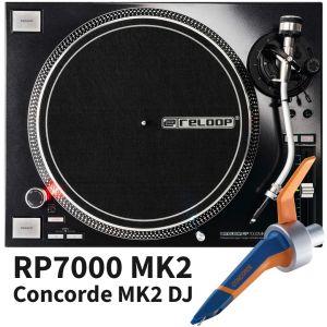 Reloop RP7000 MKII MK2 Black con Ortofon Concorde MK2 MKII DJ