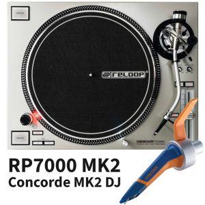 Reloop RP7000 MKII MK2 Silver con Ortofon Concorde MK2 MKII DJ