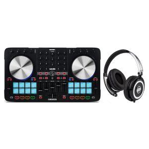RELOOP DJ BeatMix 4 MKII Controller MIDI/USB per Serato + Cuffia Reloop RHP5