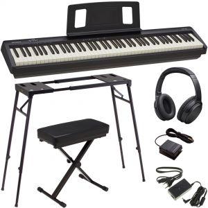 Roland FP 10 BK Pack Pianoforte Digitale con Supporto Panchetta e Cuffie