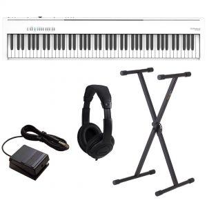 Roland FP-30X Bianco Pianoforte Digitale Portatile 88 Tasti con Stand e Cuffia