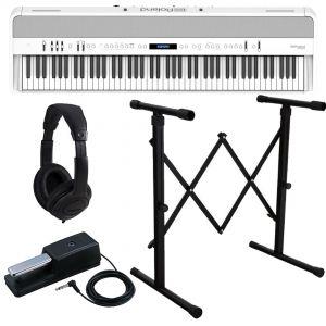 Roland FP-90X White Pianoforte Digitale Portatile 88 Tasti con Stand e Cuffia
