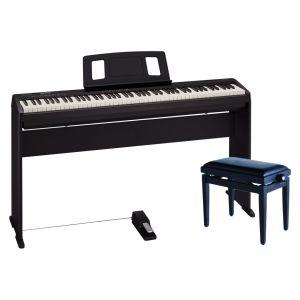Roland FP10BK Pack Deluxe Pianoforte Digitale con Supporto Panchetta Pedale Damper