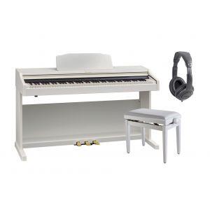 ROLAND RP501R WH Set: Pianoforte Digitale, Cuffia e Panchetta
