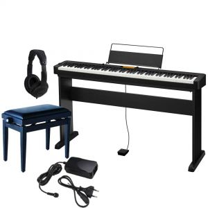 Casio CDP S350 Set - Pianoforte Digitale con Stand Panchetta e Cuffie