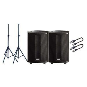 FBT 2 ProMaxX 114A Casse Attive 2 Vie 1800W / Stativi / Cavi XLR/XLR 5mt