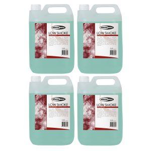 SHOWTEC Set 4 Taniche da 5lt di Liquido per Macchina del Fumo Basso