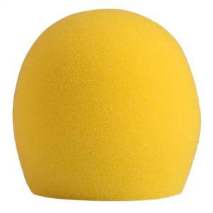Shure A58WS Yellow Spugna Acustica Antivento Gialla per PGA48 PGA58 SM48 SM58 Beta58A e 565SD