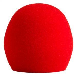 Shure A58WS Red Spugna Acustica Antivento Rossa per PGA48 PGA58 SM48 SM58 Beta58A e 565SD