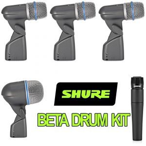 Shure Beta Drum Kit - 1 x Beta52A 3 x Beta56A 1 x SM57