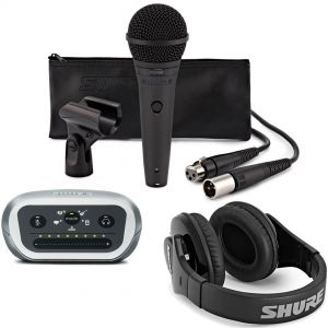 Shure Kit Registrazione Digitale Microfono PGA58 Interfaccia MVi Cuffie SRH240A