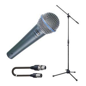Shure Beta 58A con Asta Microfonica e Cavo XLR 5mt