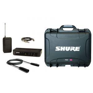 SHURE Pack BLX14E Sistema Wireless per Chitarra/Basso / Case / Cavo Audio XLR/XLR Bundle