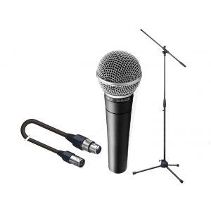 SHURE SM58 Pack per Cantanti: Microfono / Asta / Cavo