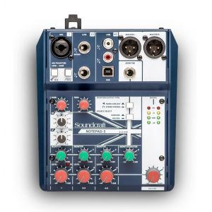 SOUNDCRAFT NOTEPAD 5 - Mixer Analogico 5 Ch