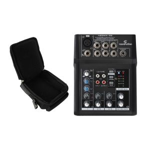 SOUNDSATION NEOMIX 102 Mixer Ultracompatto con Borsa Imbottita Compatibile