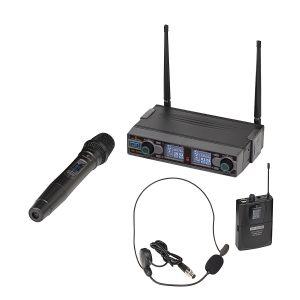SOUNDSATION WF-D290HP - Radiomicrofono Doppio UHF Digitale / Palmare / Archetto