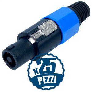 SET 25 PZ. Connettori Speakon 4 Poli Maschio