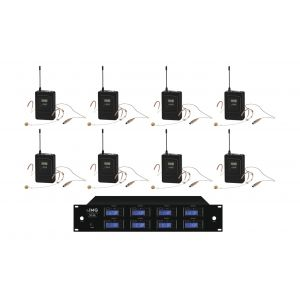 IMG Sistema Microfonico Wireless Professionale UHF 1000 Canali / 8 Headset