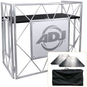 American DJ Pro Event Table II (Set Completo) Supporto Tavolo DJ Richiudibile
