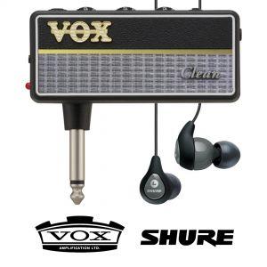 Vox Amplug 2 Clean con Shure SE112 Grigi