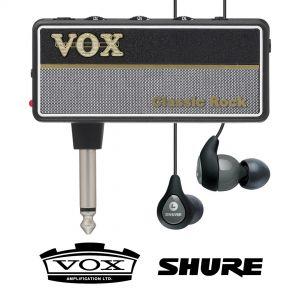 Vox Amplug 2 Classic Rock con Shure SE112 Grigi