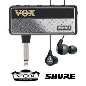 Vox Amplug 2 Metal con Shure SE112 Grigi
