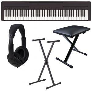 Yamaha P45 Black Set Pianoforte Digitale / Supporto / Cuffie / Sgabello