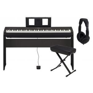 Yamaha P45 Black Home Set - Pianoforte Digitale / Stand / Panchetta / Cuffie