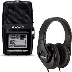 Zoom H2n Bundle Registratore Digitale Audio con Shure SRH240A Cuffie