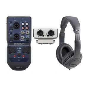 ZOOM U44 Interfaccia Audio, EXH-6 Microfono e Cuffie