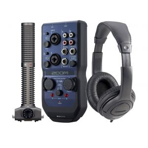 ZOOM U44 RECORDING PACK Interfaccia Audio, Microfono SSH-6 e Cuffie