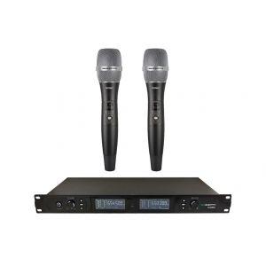 ZZIPP TXZZ800 - Radiomicrofono Wireless professionale Doppio Karaoke, DJ, Teatro