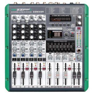 ZZIPP ZZMX6R Mixer 6 Canali con Recording Karaoke DJ