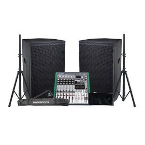 ZZIPP Impianto Audio 2200W Loudspeaker / Mixer / Supporti