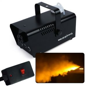 ZZIPP ZZFM400A Macchina Fumo LED ambra nebbia DJ telecomando a filo