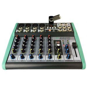 ZZIPP ZZMXBTE6 Mixer Karaoke DJ 6 Canali USB MP3