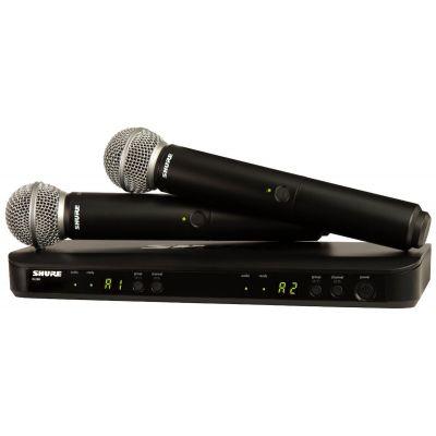 Shure BLX288E/SM58 M17 - Radiomicrofono Doppio Palmare UHF