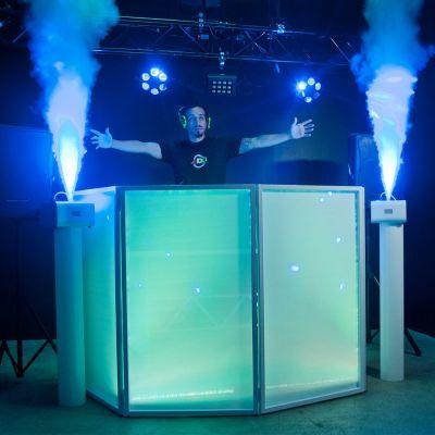 ADJ VF Volcano - Macchina Fumo DJ Verticale con Led da 6 Watt