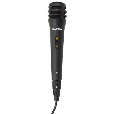 KARMA Microfono Dinamico con cavo da 3mt e connettore Jack 6,3 mm