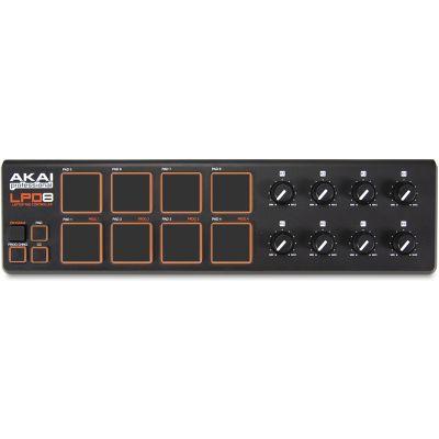 AKAI Pad Controller LPD8 USB MIDI Portatile con 8 Pad Retroilluminati