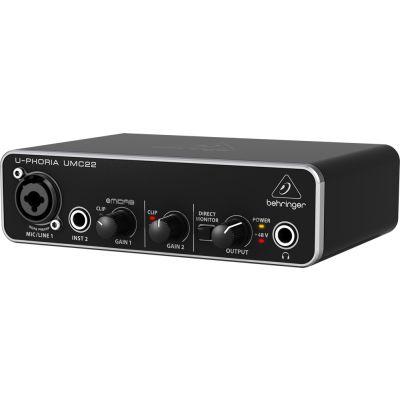 BEHRINGER UMC22 - Interfaccia audio 2x2 USB con PreAmp MIDAS