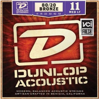 DUNLOP DAB1152 Medium Light PER CHITARRA ACUSTICA (11-52)
