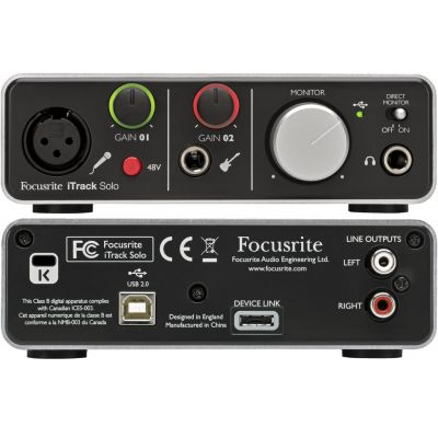 Focusrite iTrack Solo Lightning - Scheda Audio Lightning
