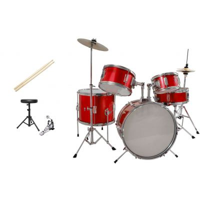Batteria Acustica Junior RED - 5 pezzi Completa di Accessori