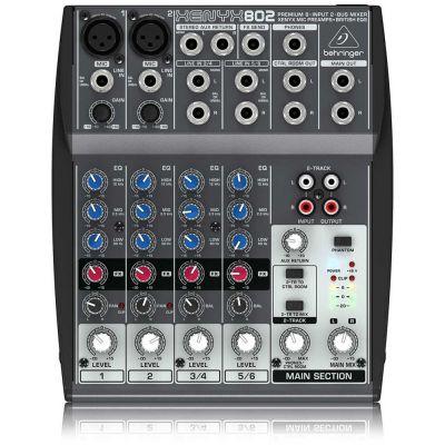 BEHRINGER Xenyx 802 Mixer 8 canali per Karaoke canto voce DJ e strumenti